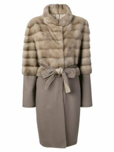 Liska layered design coat - Neutrals