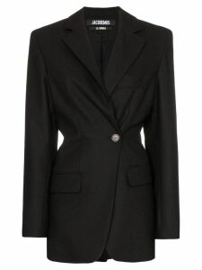Jacquemus gathered-back single-breasted wool blazer - Black