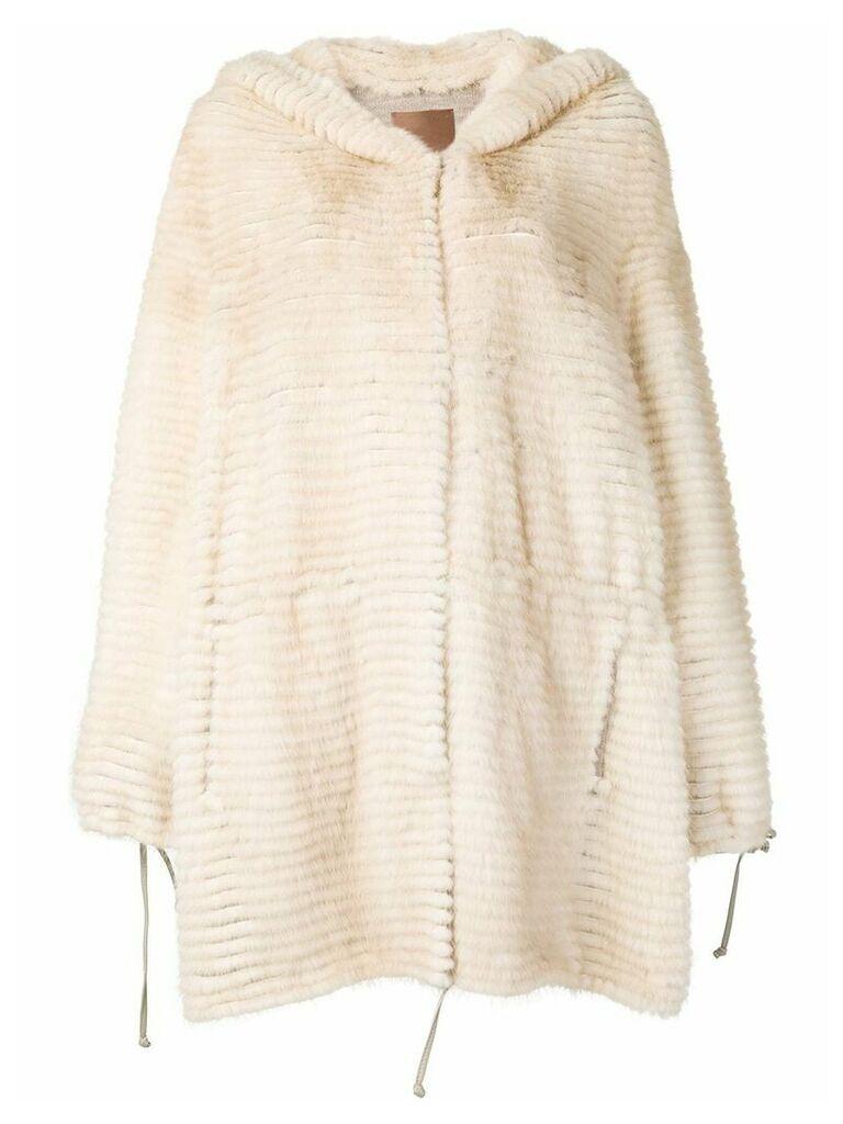 Liska Rosalie hooded coat - Neutrals