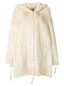 Liska Rosalie hooded coat - Neutrals