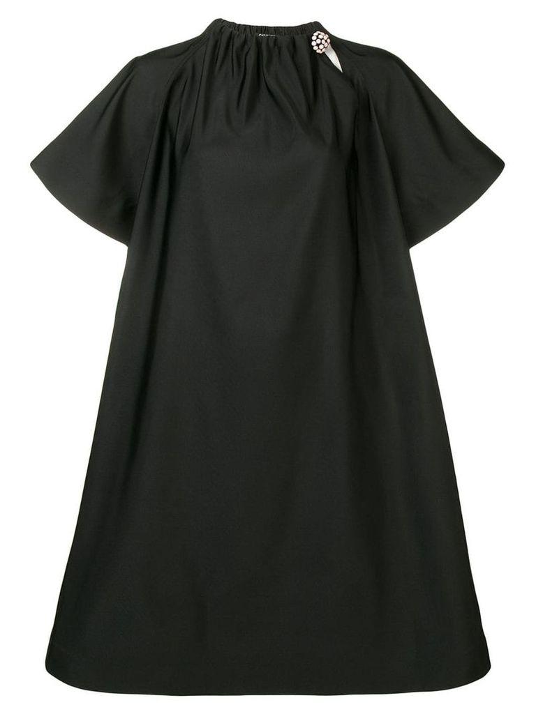 Calvin Klein 205W39nyc embellished collar midi dress - Black