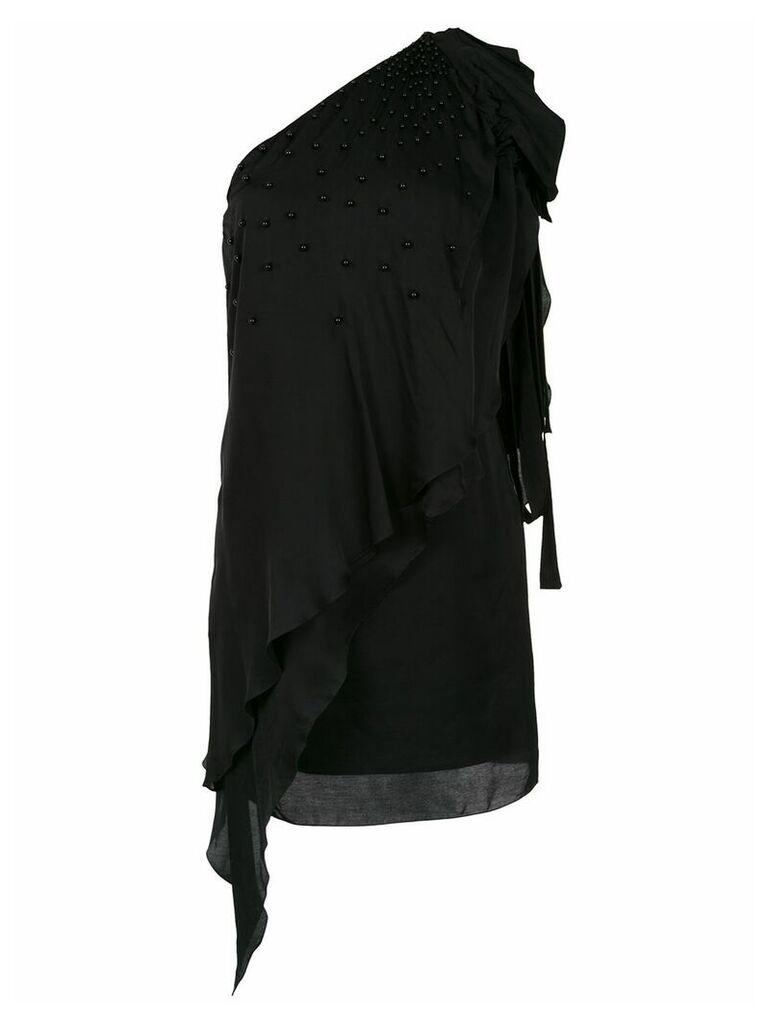 Tufi Duek one shoulder dress - Black