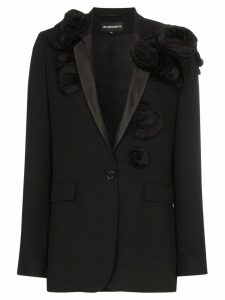 Ann Demeulemeester 3D floral single breasted virgin wool blazer -