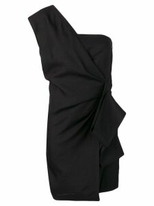 Victoria Victoria Beckham asymmetric mini dress - Black