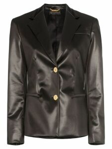 Versace Fitted faux leather blazer jacket - Black