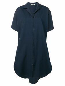 Jil Sander Gunner zip-front shirt dress - Blue