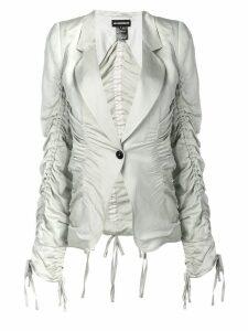 Ann Demeulemeester ruched design blazer - Neutrals