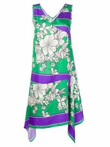 P.A.R.O.S.H. floral v neck dress - Green