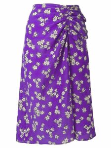 P.A.R.O.S.H. floral gathered skirt - Purple