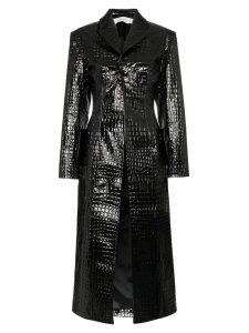 Aleksandre Akhalkatsishvili mock croc trench coat - Black