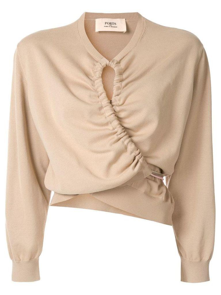 Ports 1961 ruched detail sweatshirt - Brown