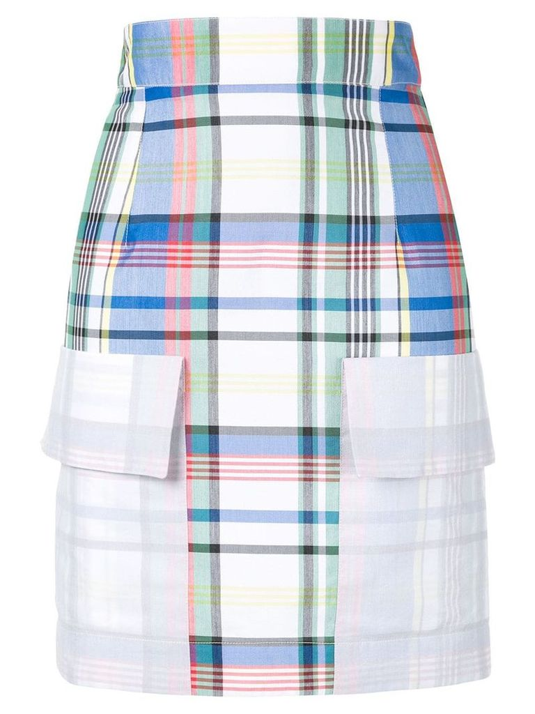 Ports 1961 fitted check skirt - Multicolour