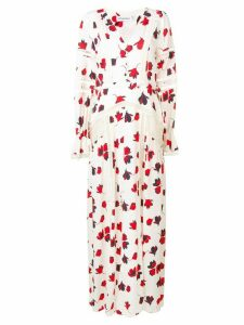 Self-Portrait floral print maxi dress - White