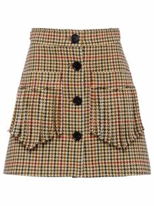 Miu Miu houndstooth check skirt - Green