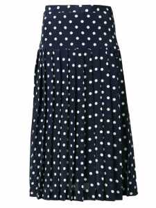 Alessandra Rich polka dot pleated skirt - Blue
