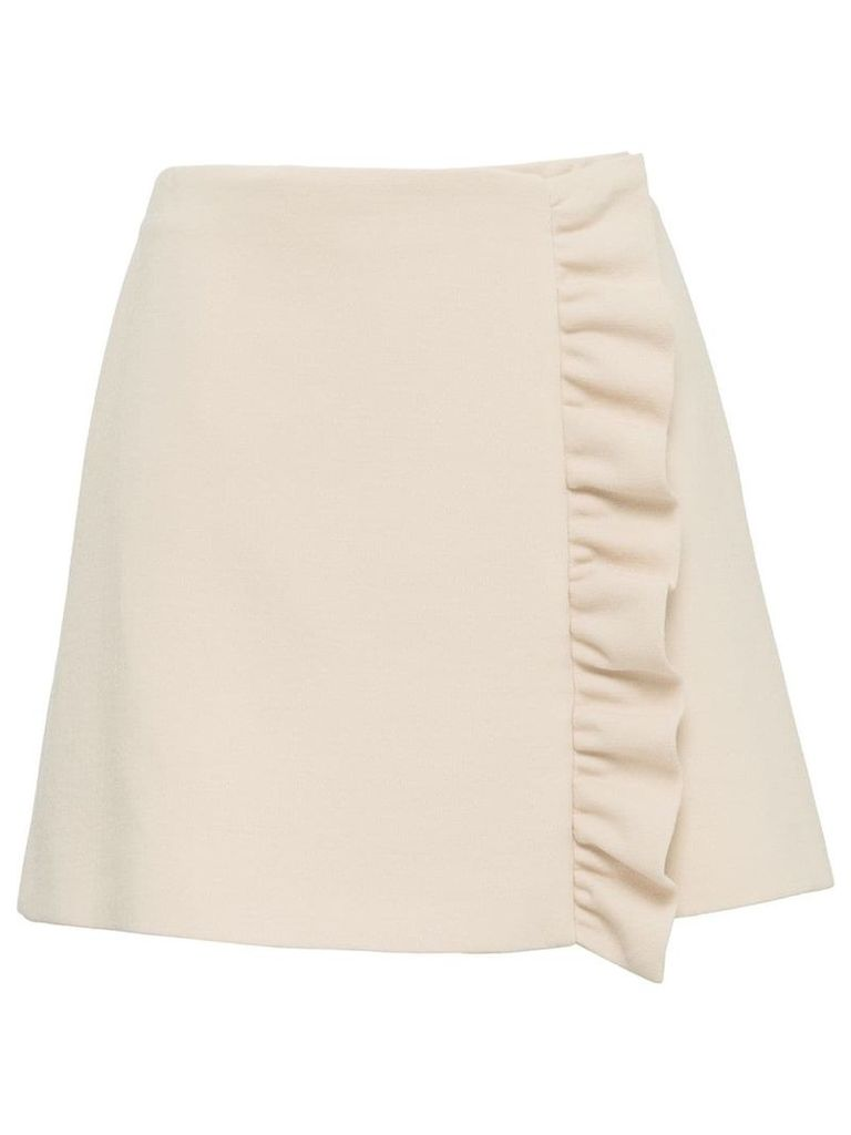 Miu Miu ruffle trim skirt - Pink