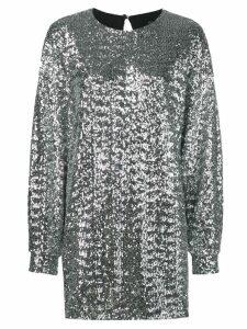 Isabel Marant sequin jersey dress - Silver
