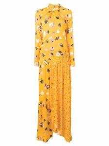 Self-Portrait floral print maxi dress - White