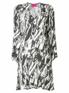 Patrizia Pepe printed v-neck dress - Grey