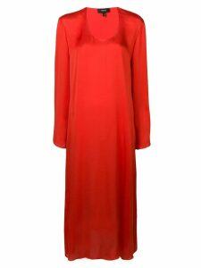 Theory fluid midi dress - Orange