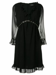 Twin-Set v-neck ruffle dress - Black