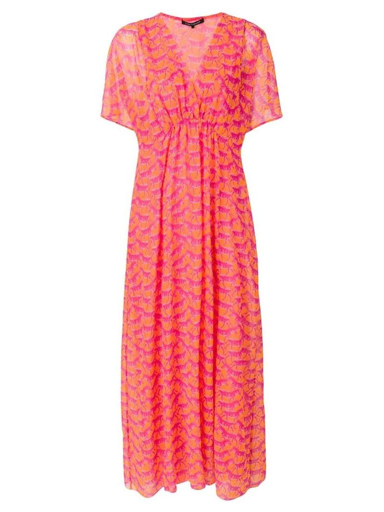 Luisa Cerano zebra patterned maxi dress - Pink