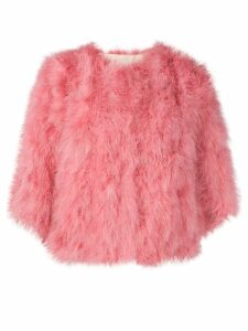 Yves Salomon short feathered bolero jacket - Pink