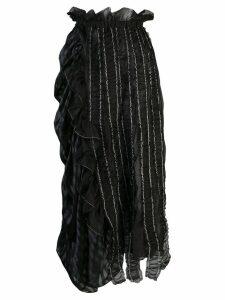 Renli Su asymmetric ruffle skirt - Black