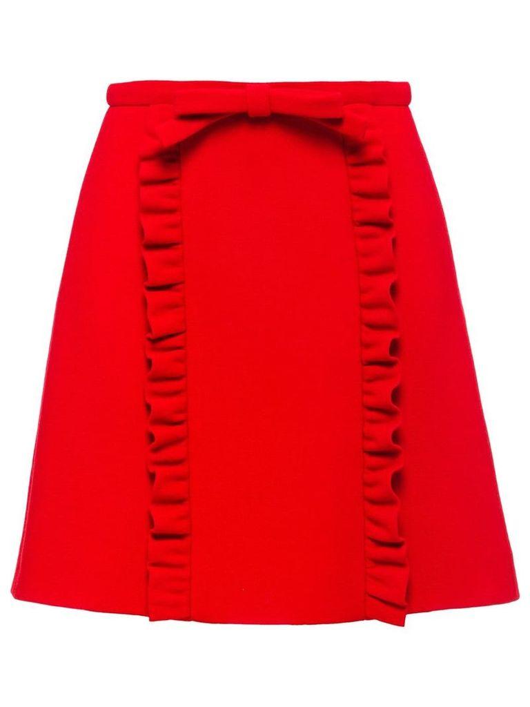 Miu Miu Natté crepe skirt - Red