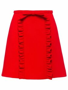 Miu Miu Natté crepe skirt - Red