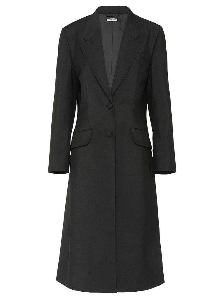 Miu Miu single breasted coat - Black