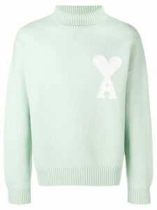 Ami Alexandre Mattiussi Ami de Coeur oversize sweater - Green