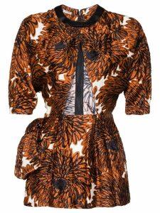 Miu Miu floral print mini dress - Brown