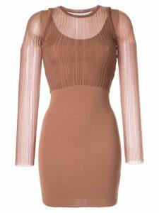 Dion Lee Opacity mini dress - Brown