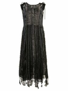 Renli Su sheer ruffle dress - Black