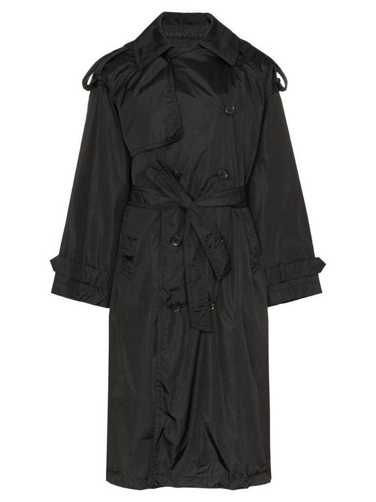 Juun.J Denim front parka coat - Black