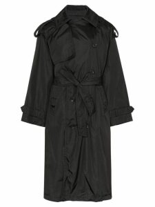 Juun.J Denim front parka coat - Black