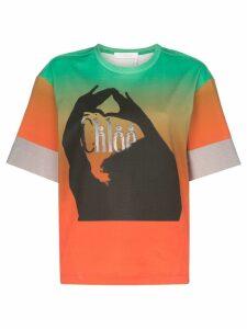 Chloé Graphic print ombre cotton T-shirt - Green