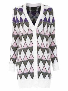 Andrea Bogosian knitted cardicoat - White
