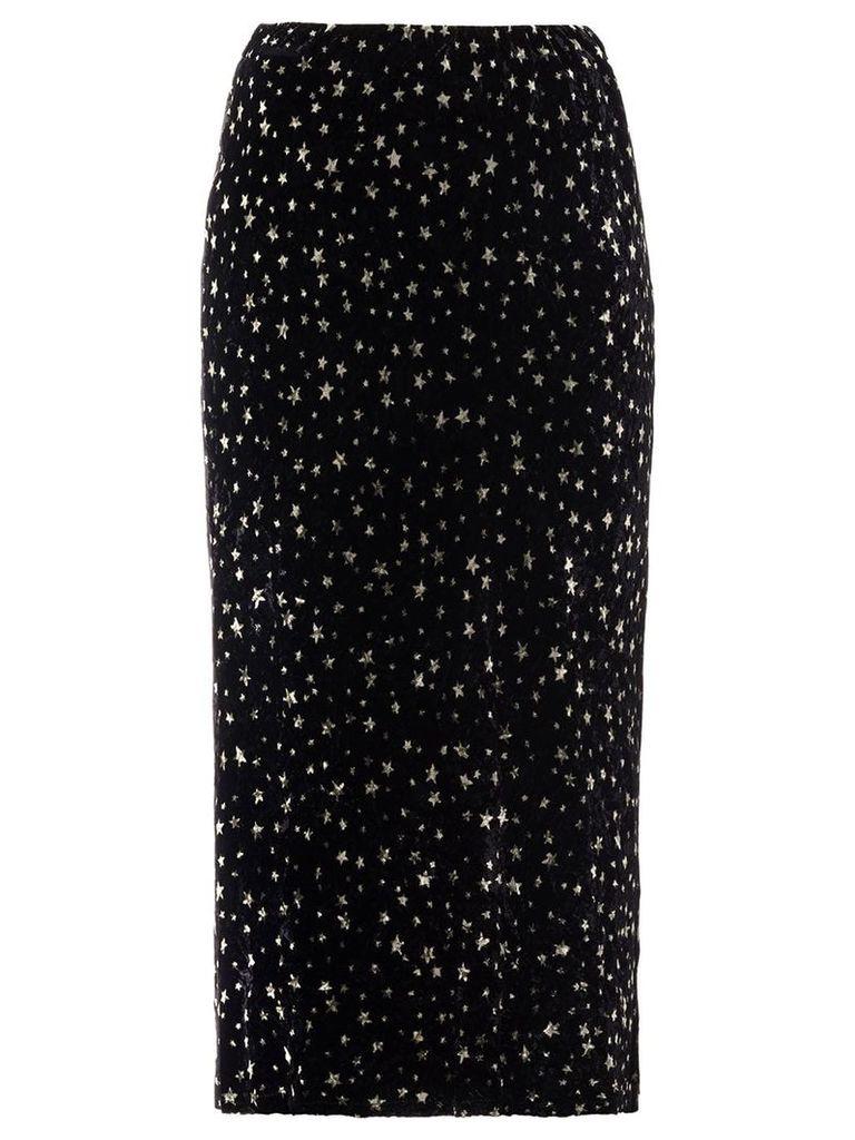 Miu Miu star print midi skirt - Black