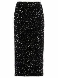 Miu Miu star print midi skirt - Black