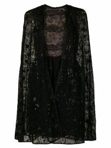 Giambattista Valli lace-embroidered flared dress - Black