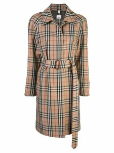 Burberry Vintage Check Nylon Belted Car Coat - Multicolour