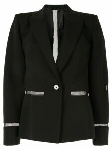 Dion Lee tailored mesh insert blazer - Black