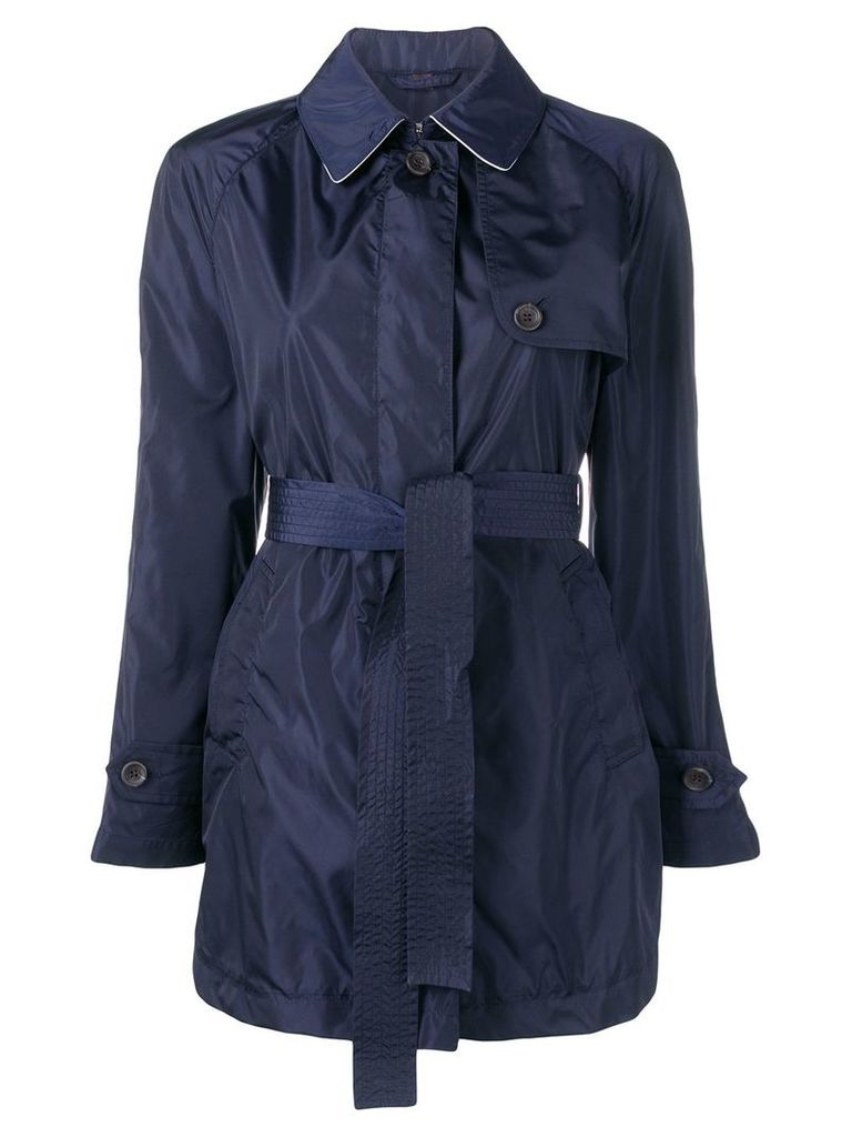 Sealup belted trenchcoat - Blue