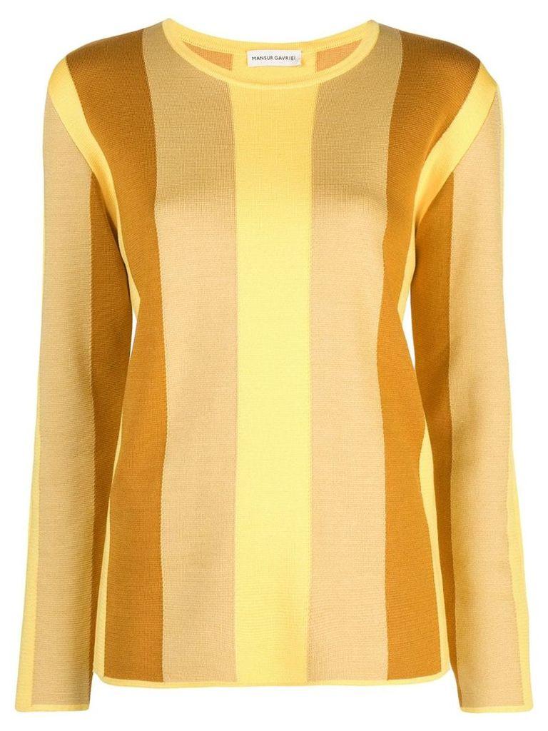 Mansur Gavriel striped contrast sweater - Yellow