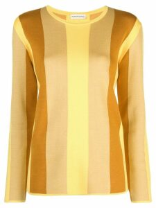 Mansur Gavriel striped contrast sweater - Yellow