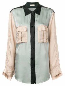Maison Flaneur cargo pocket shirt - Grey