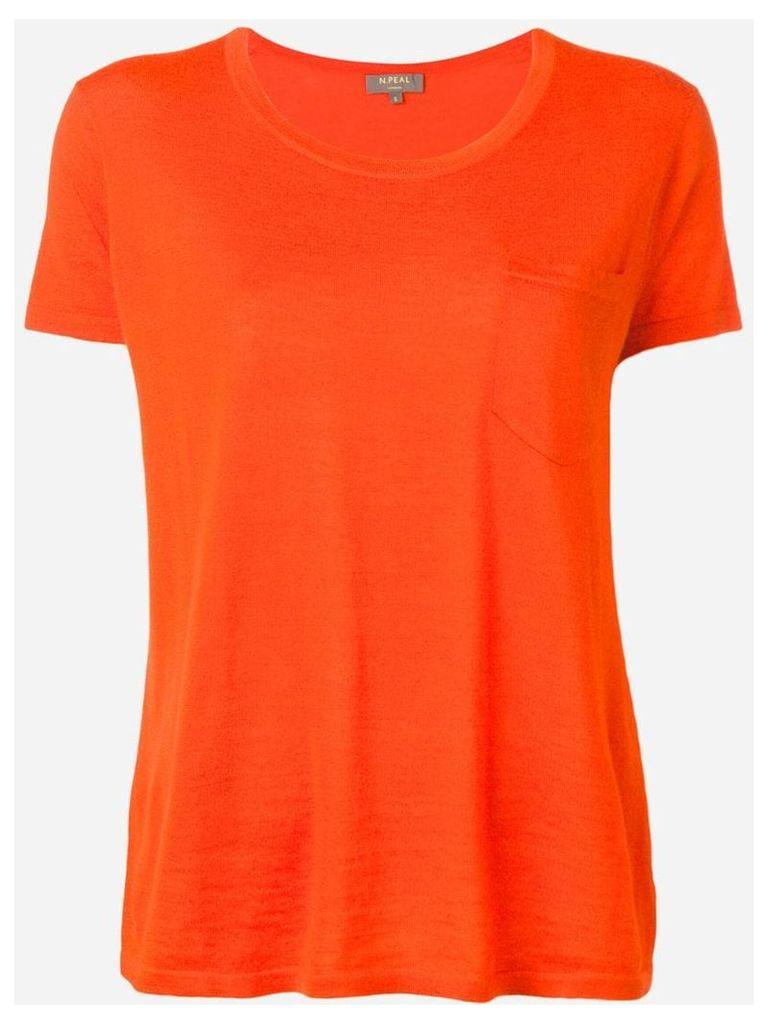 N.Peal Superfine Round Neck Knit Top - Orange