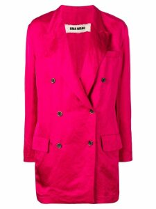 Uma Wang double-breasted coat - Pink